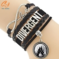 Fashion Jewelry high quality Handmade Women Bracelet Divergent Charms White Braided Wristband Love Bracelets