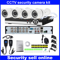 HD 1080P P2P 8 Channel Video Surveillance KIT 4PCS Outdoor IR Night Vision 2 0 MP