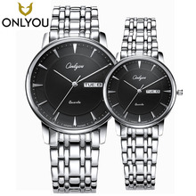 ONLYOU Lovers Watches Men Hot Sale Top Brand Luxury Waterproof Watch Women Business Calendar Date Stainless Steel Wristwatch