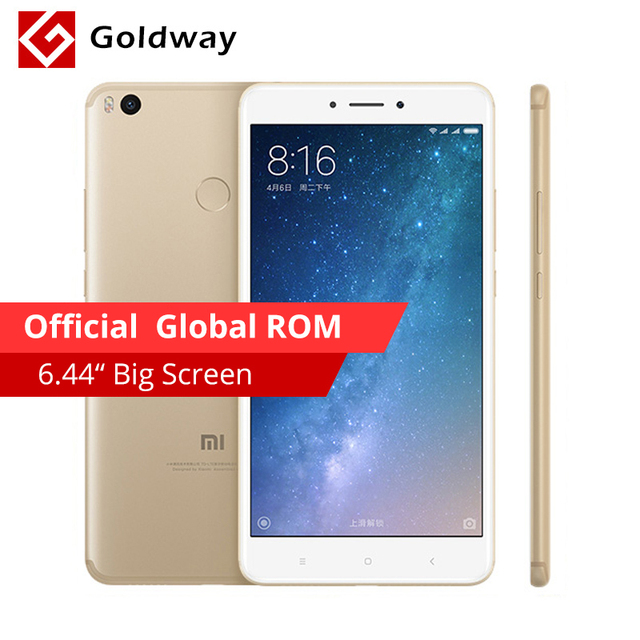 "Original Xiaomi Mi Max 2 Max2 Mobile Phone 4GB RAM 64GB 6.44"" Snapdragon 625 Octa Core 12.0MP OTG 5300mAh Battery Fingerprint ID"
