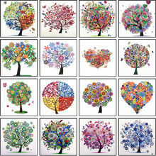 Diamond Embroidery Winter Flower Tree Special Shape Painting Needle Rhinestone 5d DIY Crystal