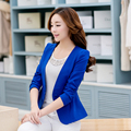 Autumn Women Slim Blazer Coat 2017 New Casual Solid Jacket Long Sleeve One Button Suit Ladies Blazers Work Wear Plus Size