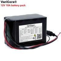 Varicore grande capacidade 12v 10ah 18650 bateria recarregável de lítio 12v 10000 mah com bms para 75 w lâmpada led xenon ues|Pacotes de bateria| |  -