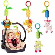 Bebê Animal Macio Chocalhos Brinquedos Infantis 0 12 mês Cama Berço Carrinho de Bebê Música Sino Pendurado para crianças Brinquedos de Pelúcia Móvel Pelúcia игрушки