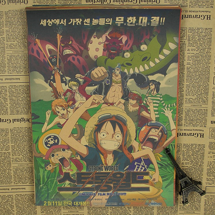 Japanese animation movie poster speed of 5 cm sec retro kraft paper room decoration personality wall posters image