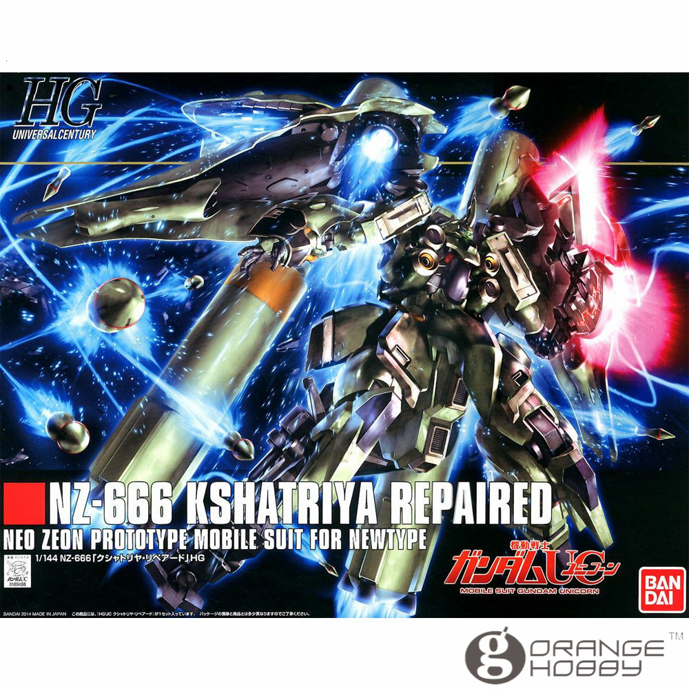 OHS Bandai HGUC 179 1/144 NZ-666 Kshatriya Repaired Mobile Suit Assembly Model Kits bandai hguc 178 1 144 rx 0 full armor unicorn gundam destroy mode mobile suit assembly model kits