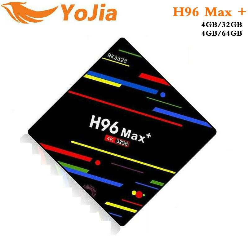 4 GB RAM 64 GB 4 K Smart TV Box Android 8.1 H96 MAX Plus RK3328 Set top box 2,4G /5G Dual WIFI H96Max + Media player pk T9 Mi TVBOX