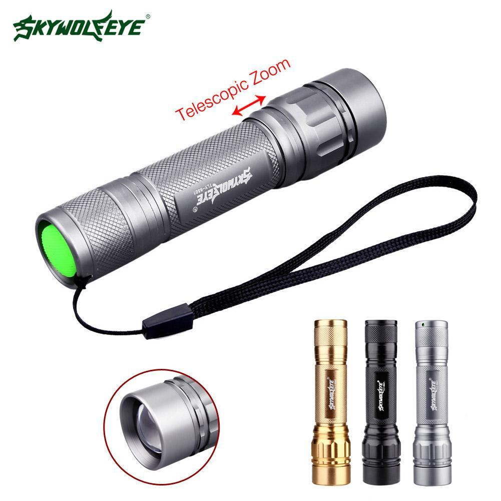 Waterproof LED Flashlight Torch 3500 LM With Q5 Zoomable 3 Modes Aluminum Portable For Camping Outdoor Activities At Night