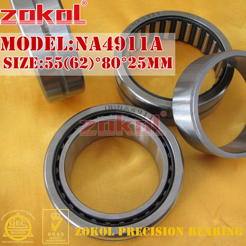 ZOKOL bearing NA4911 A NA4911A Entity ferrule needle roller bearing 55(62)*80*25mm 0 25mm 540 needle skin maintenance painless micro needle therapy roller black red