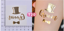 1 X Gold Bride Temporary Tattoo: Bachelorette Party Accessories