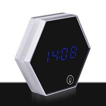 Wall Hanging LED Alarm Clock Digital Clocks Despertador Mirror Electronic Desktop Clock Night Light Timer Wekker