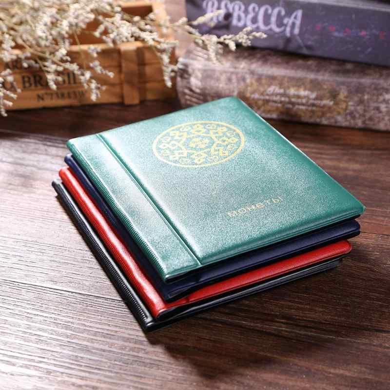 120 Cepler Sikke Fotoğraf Albümü 10 Sayfa Rus DIY Albümü Tutucu Koleksiyonu Kitap Cepler Depolama Koleksiyonu Kitap Sikke Tutucu