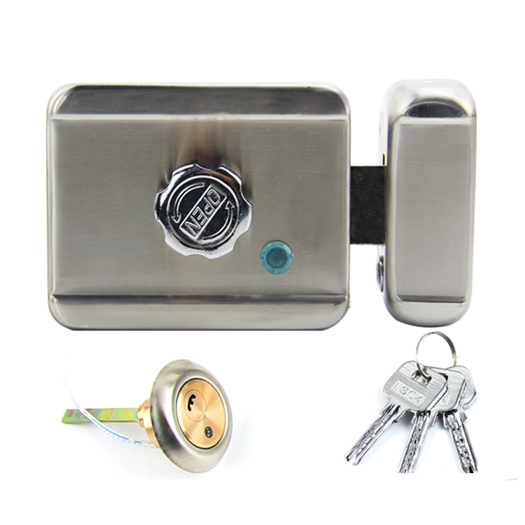 Stainless Steel Single Head Mute Electric Rim Lock, Electric Control Lock for Access Control/Building Intercom System. ban mustafa and najla aldabagh building an ontology based access control model for multi agent system