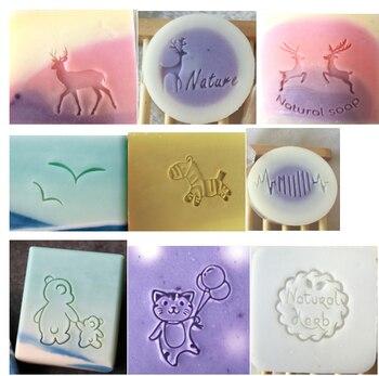 Jabón hecho a mano estándar Mini jabón diy sello capítulo
