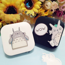 LIUSVENTINA DIY acrylic  lovely Totoro cat contact lens case for eyes contact lenses box for glasses