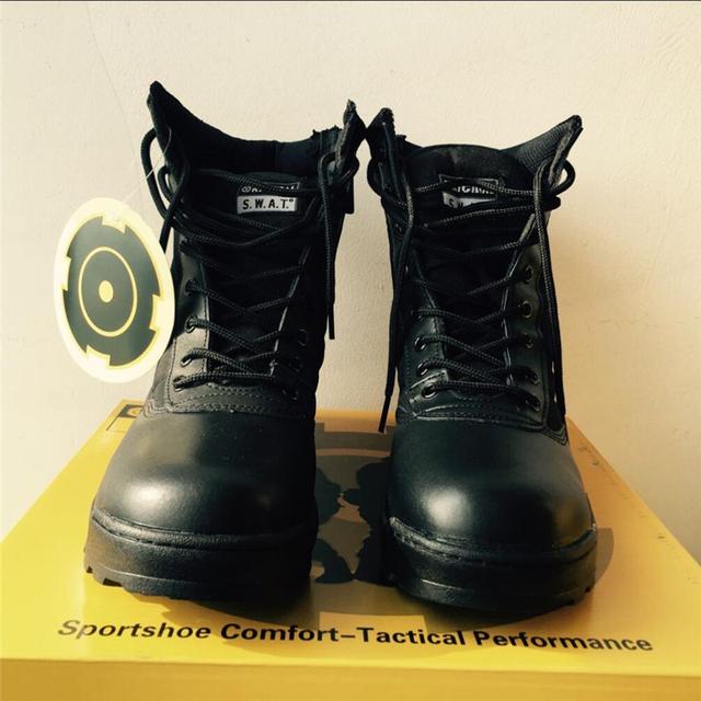 2017 Hombres Botas Para Hombre Militar Del Ejército Del Desierto SWAT Botas de Combate de Arranque Del Otoño Del Resorte Botines Transpirables Hombres Botas de Calidad Superior