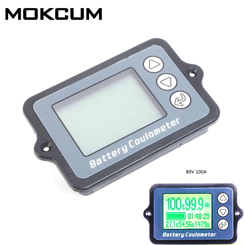 DC8-80V 100A Battery Coulometer TK15 Precision Battery Tester for LiFePo Coulomb Counter Vehicle Battery Capacity Display