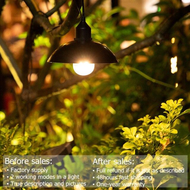 Garden Solar Light Retro Bulb Chandelier  5
