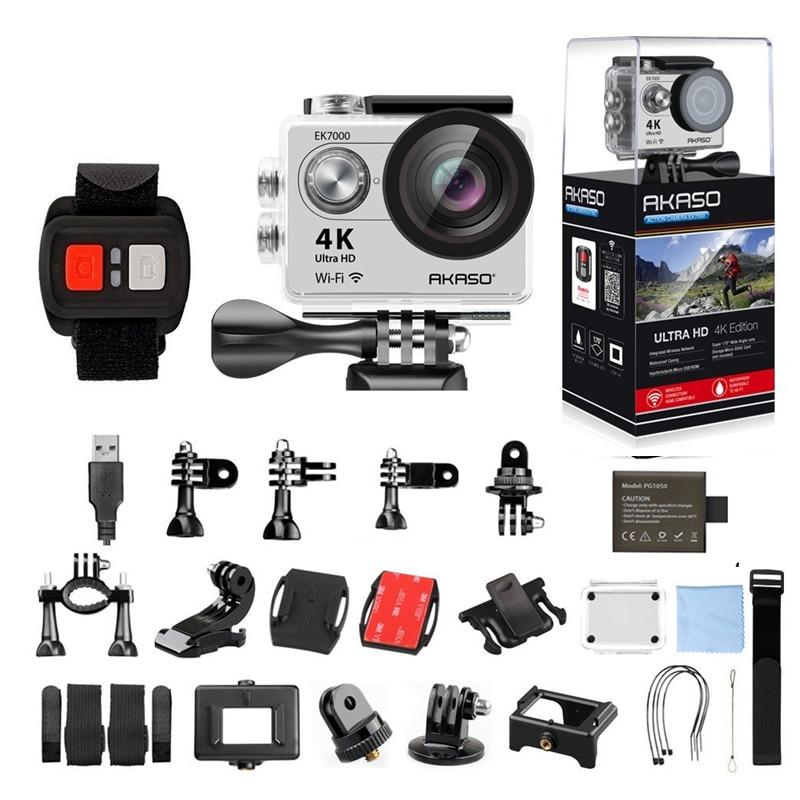 AKASO Silver EK7000 4K WIFI Outdoor Action Camera Video Sports pro Camera wifi Ultra HD Waterproof DV Camcorder Go Waterproof