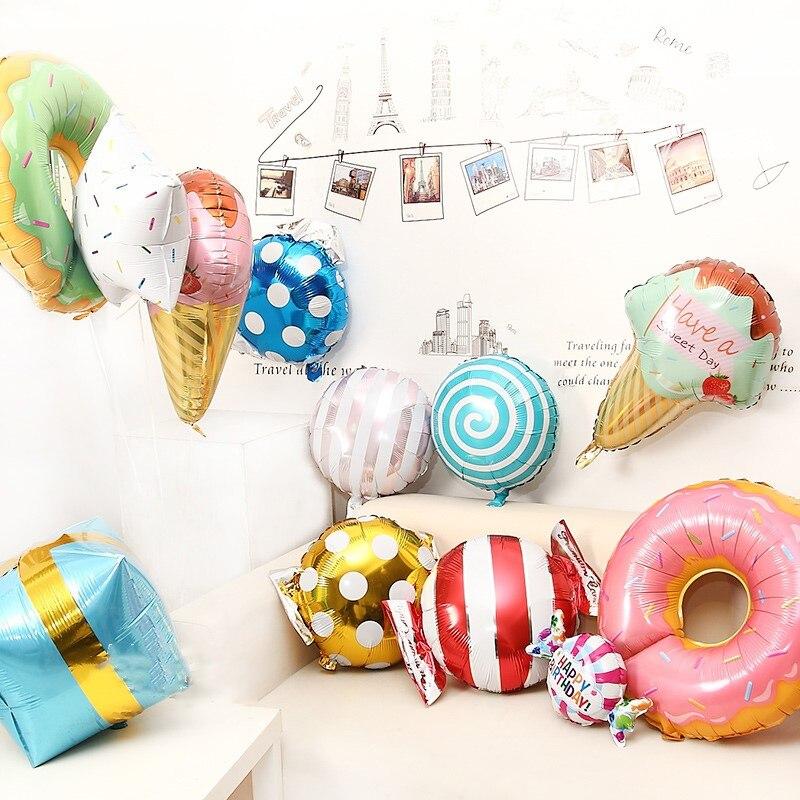 18th Birthday Birthday Party Favor Gumball Candy: Rainbow Candy Doughnut Lollipop Gift Box Balloons Foil