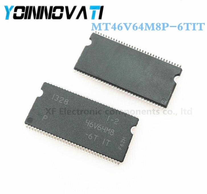 Free shipping 50pcs Lot 46V64M8 MT46V64M8P MT46V64M8P 6TIT TSSOP66 IC