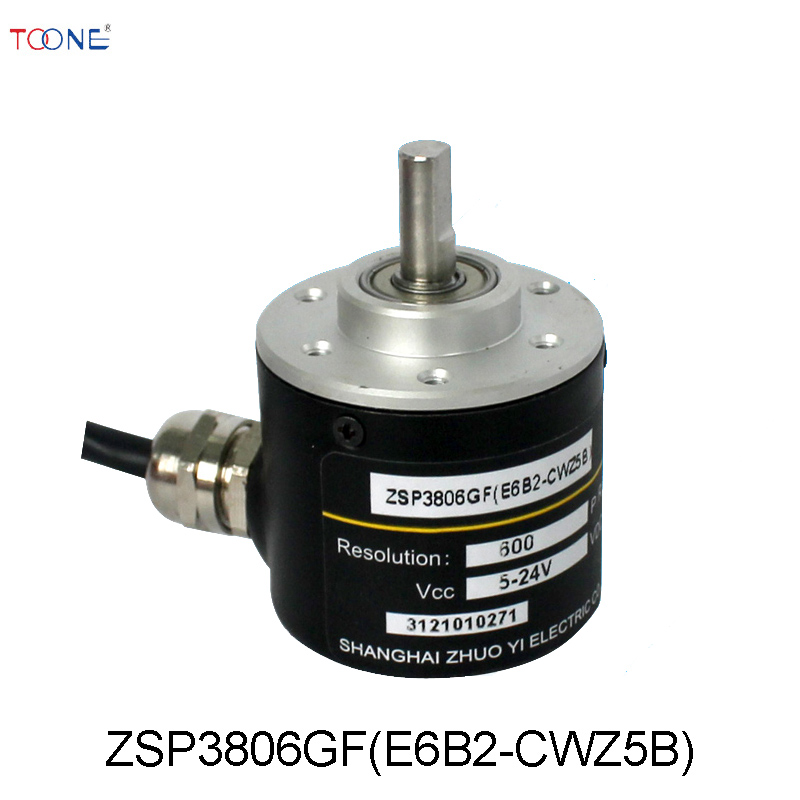 Photoelectric rotary encoder ZSP3806GF replace the European mother cage E6B2-CWZ5B complementary output 1024p r incremental rotary encoder 40 mm dia e6b2 cwz5b pnp output