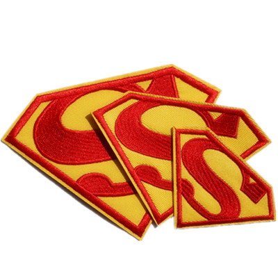 Wholesale Iron on <font><b>Superman</b></font> <font><b>Patches</b></font> <font><b>Logo</b></font> <font><b>Patch</b></font> Embroidered Appliques Free Shipping !