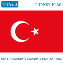 Free shipping 90*150cm/60*90cm/40*60cm/15*21cm Turkey National Turkish Flag 3*5Ft For World Cup Day Olympic Games