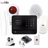 SmartYIBA Touch Панель охранной сигнализации для дома WI FI Камера Дым пожарный Сенсор паники Наборы WI FI GSM домашняя система де seguridad