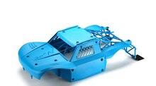 DTT 1/5 rc voiture gaz anti usure coque de voiture anti abrasion nylon corps couverture + roll cage kit pour Losi 5IVE T Lt KM x2 1 ensemble