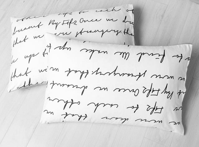 Letter Printed Bedding Set