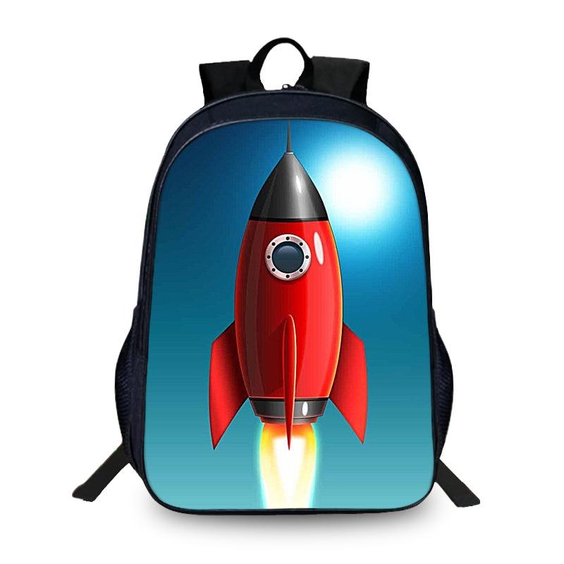 BAOBEIKU, Новое поступление, 3D рюкзаки с рисунком ракеты, модные детские школьные сумки для девочек и мальчиков, мужская сумка для книг, детские