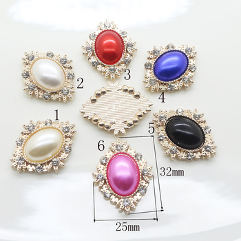 Mode 10pc perle strass taste 2017 Blume Geformt Hochzeit decoraation Flache rückseite Kleidung metall taste DIY Zubehör