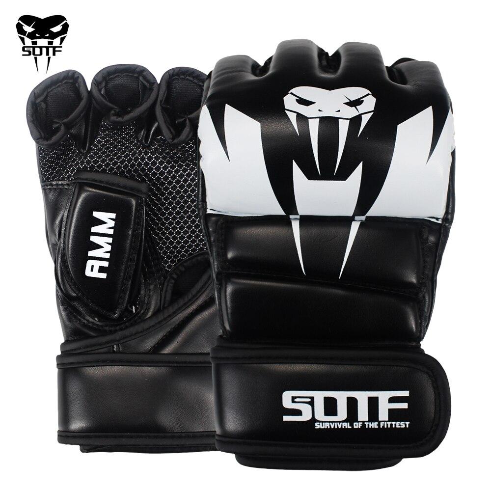 SOTF adultes MMA serpent venimeux multicolore gants de boxe MMA tigre Muay Thai gants muay thai boxe combat gant Sanda coussinets boîte