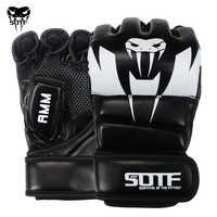 SOTF adultos MMA serpiente venenosa Multicolor guantes de boxeo MMA Tigre guantes para muay thai Boxeo muay thai guantes de pelea almohadillas de Sanda caja