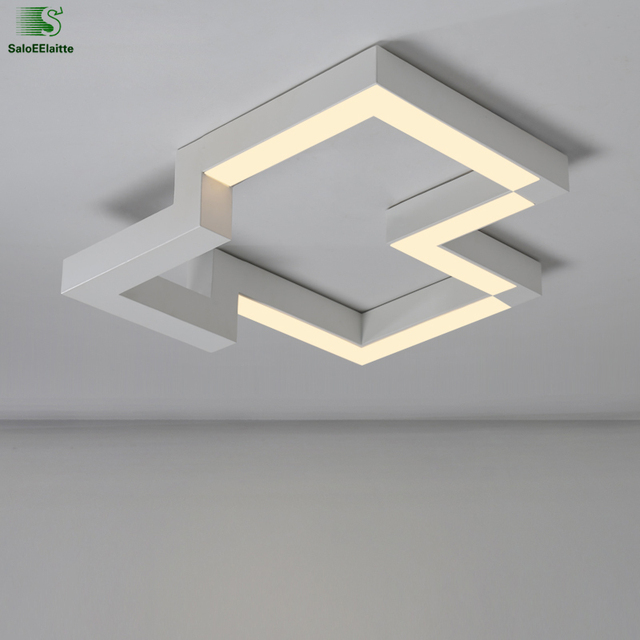 Modern geometry metal dimmable led ceiling light lamparas acrylic modern geometry metal dimmable led ceiling light lamparas acrylic bedroom led ceiling lamp luminaria led ceiling aloadofball Images