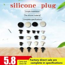 Силиконовая резиновая заглушка 50 шт 3-10 мм Маленькая Т-образная форма из силиконовой резины Уплотнительные заглушки для крышки отверстия трубы
