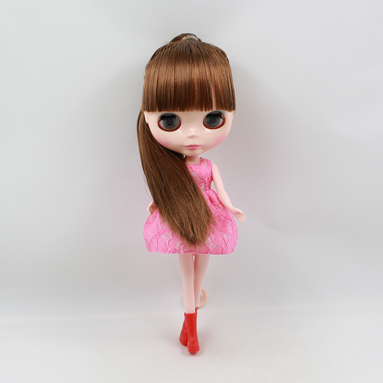 Nude Blyth Doll Brown Long Hair With Bangs Doll modified Make up Doll Toys For Girl Gift