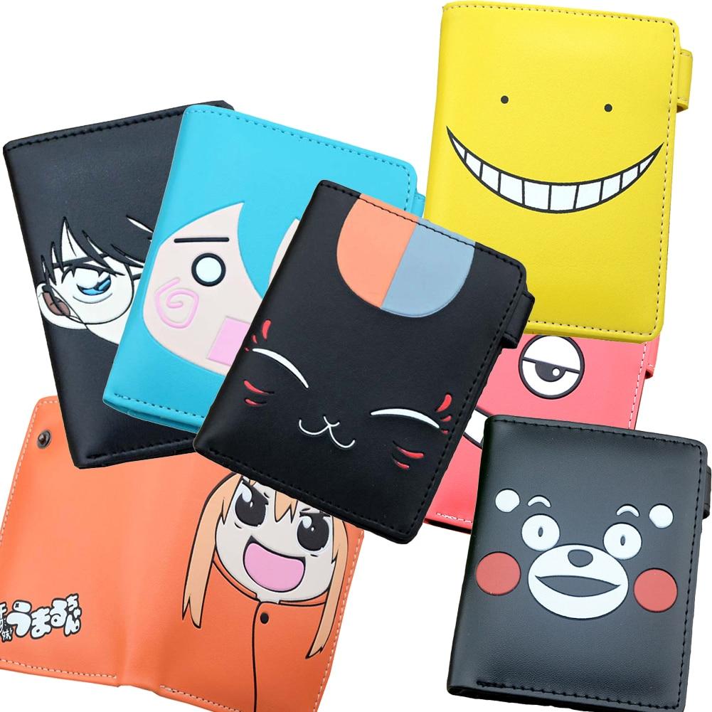 E-Mell Korosensei Daomu Tokyo Ghoul Himouto RE Zero Hell Girl Danganronpa Natsume Gintama Two Folded Purse Short Wallet