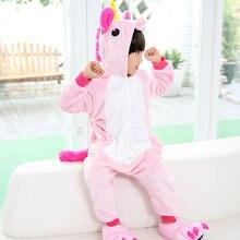 Unicorn Pajamas Flannel Cartoon Animals Cat Pyjamas for Girls Kids Winter Cheap Baby Pajamas Children's Sleepwear Baby Children