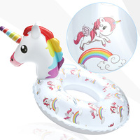 Unicorn Flamingo Swimming Baby Accessories Safety Training Float Ring Infant Float Circle for Bathing Inflatable Water Dropship
