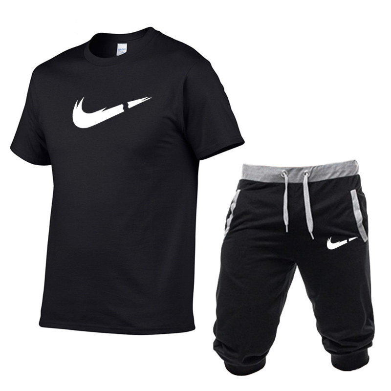 Summer Sport Men's Sportswear T Shirts+pants Running Shorts Vest Sets Clothes Sports Joggers Training Gym Fitness Suits