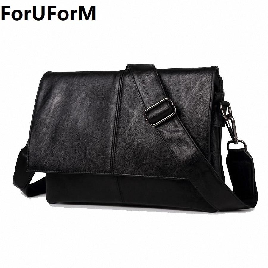Leather bag Men Bag Messenger casual Men's travel bag leather clutch crossbody bags Male shoulder PU Leather Handbag NEW LI-2012