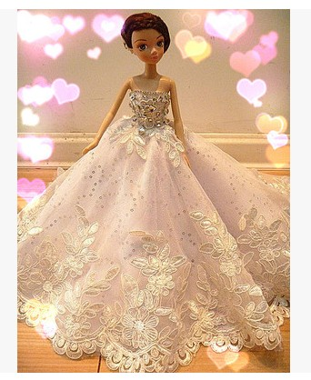 Autonomous design handmade Presents For Women Doll Equipment Night Go well with Wedding ceremony Gown Garments For Barbie 1:6 Doll BBI0092