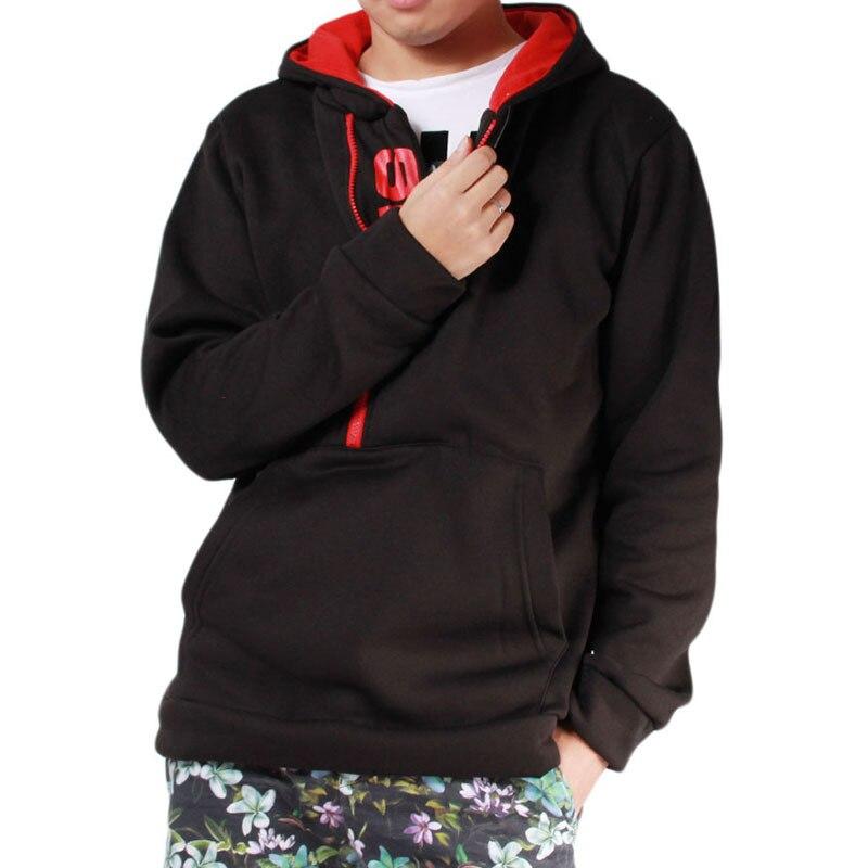 Мужские футбольные майки на молнии с буквенным принтом, мужская верхняя одежда на осень и зиму, мужская спортивная одежда, толстовки для фитнеса, верхняя одежда 4XL - Цвет: Black Red