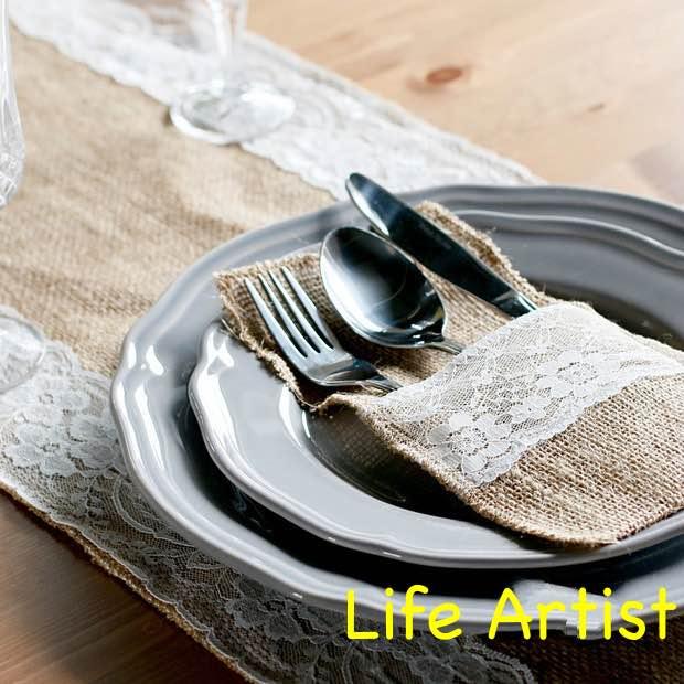 Festive & Party Supplies Home & Garden 21cmx11cm 24pcs Jute Burlap Cutlery Pocket Vintage Rustic Tableware Bags Wedding Table Decoration Centerpieces