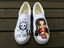 Wen Design Custom Anime One Piece Boa Hancock Hand Painted Slip On Shoes Men Women Canvas Sneakers for Birthday Gifts