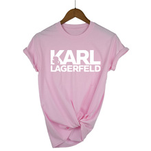 Karl Lagerfeld T shirt women Unisex summer 2019 Vogue Short Sleeve Funny Shirts Harajuku Tumblr Who Tshirt femme