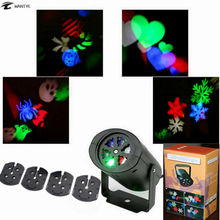 Mini LED Laser Effect Stage Light Party Pattern Lighting Projector Heart Snow Spider Bat Christmas Landscape Light