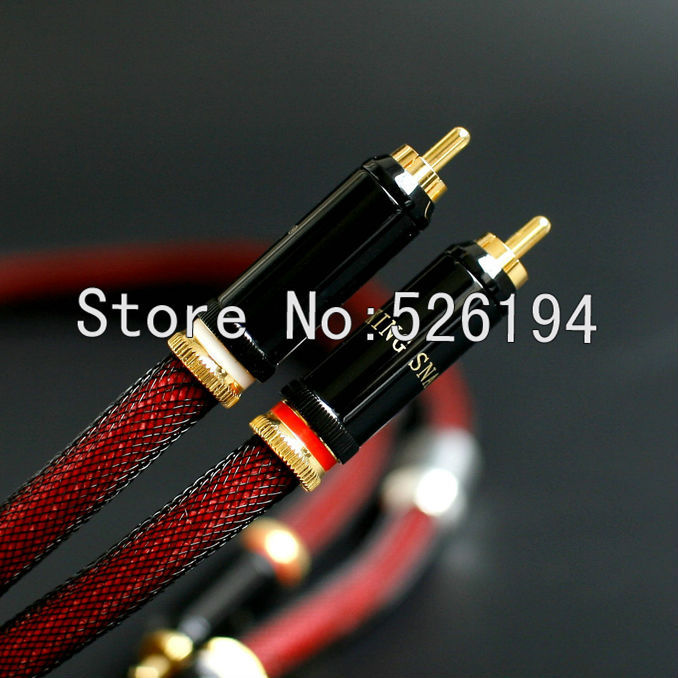 цена  Free shipping pair king snake KS-GT.2 series silver Interconnect RCA Audio cable  онлайн в 2017 году